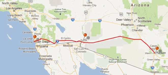 It's 355 miles from Phoenix to San Diego - DistanceCalc